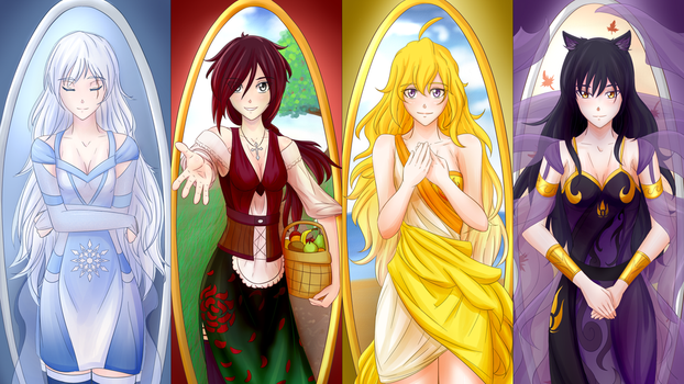 RWBY Maidens: The Four Seasons by Madgamer2k7