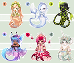 Merfolk Gaia Adopts, CLOSED/ALL TAKEN. by fickle-adopts