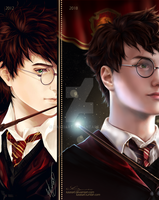 Harry Potter Bookmark -2012-2018- by KaseiArt