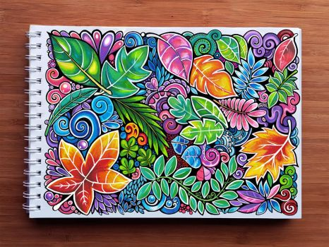 Colourful Leaves Pattern by Zyari