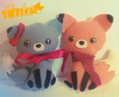 [Sewing] ~ Little cat and fox by Tsunesamaa