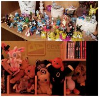 My POKEMON Tomy Collection :3 by HorrorKittey