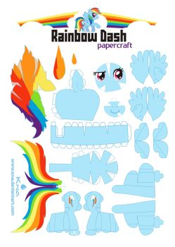 Rainbowdash explore rainbowdash on deviantart for Rainbow dash cake template