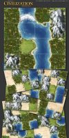 Civilization board game tiles by henning