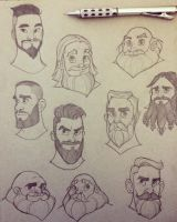 Beard Sketches by ChrissieZullo