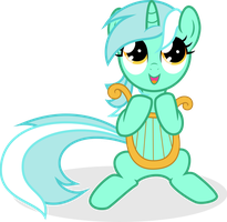 Music Lesson - Vector of Filly Lyra by Agamnentzar