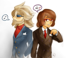 Bronev and Sycamore: Dapper-Like Men by MagicianCelemis