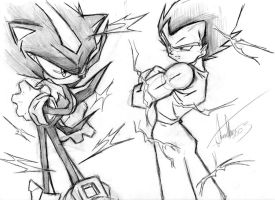 Shadow vs vegeta by Haysey84