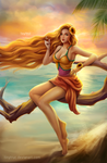 fanart Leona Pool Party by TinyTruc