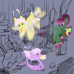 Grotto Quest - A Dragon(fly)'s Hoard WIP by FuyusFox