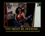 Wonder Woman Played Electric Guitar Poster by Jyger85