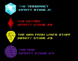 Infinity Stones of the Marvel Movies version 2 by Xelku9