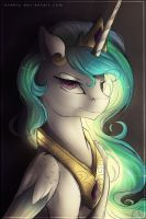 A Less-Than-Amused Celestia by Evehly