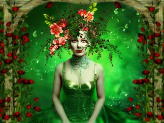 The flower woman by annemaria48