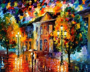 Autumn Day by Leonid Afremov by Leonidafremov