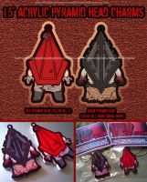Pyramid Head Acrylic Charms by Silent-Neutral
