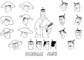 Many Faces of Samurai Jack by Nes44Nes