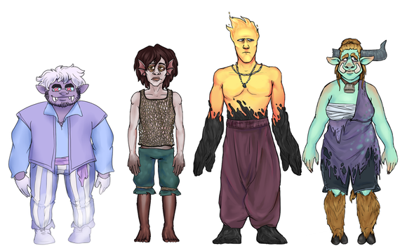 Monster Quest Characters by Unlucky-day-for-Fay