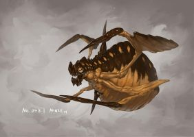 Monster No. 043 by Onehundred-Monsters