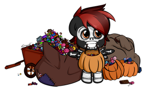 Pack Rat's Hallowe'en - Trick or treat by secret-pony