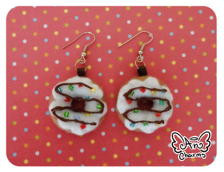 .: Dougnuts Earrings :. by Angeru-Charms