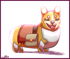 PIMPED OUT CORGI by cappydarn