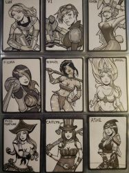 DOJ-CON ACEO cards 19-27 by SavantGuarde