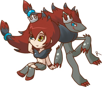 zoroark gijinka commission by winterchicken-chan