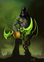 Illidan Stormrage by Ashelflaed