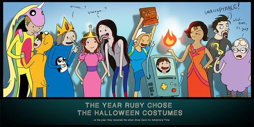 The Year Ruby Chose The Halloween Costumes by goofymoNkey