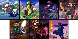ALL RAYMAN BOSSES by Anzhyra
