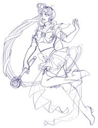 Sailor New Moon Sketch for Sketching-Panda-Ren by nickyflamingo