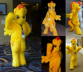 MLP Spit Fire Mascot Commission by koisnake