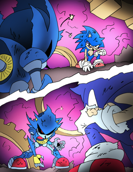 Sonic vs Metal for SonicWindAttack by NickinAmerica