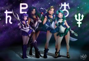 Sailor Scouts, Outer Senshi by Chansey123