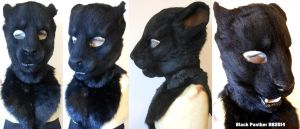 Black Panter Head 02 by Magpieb0nes