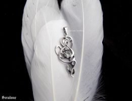 'Magic forms', handmade sterling silver pendant by seralune