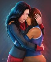 Korrasami Hug by ArtKitt-Creations