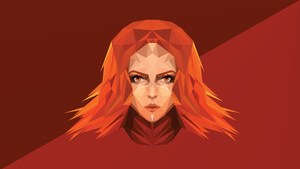 Lina Dota 2 Low Poly Art by giftmones