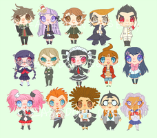 DANGAN RONPA STICKERSSSSS by nebula-tea