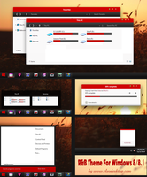 Red B Theme For Windows 8/8.1(Upload) by Cleodesktop