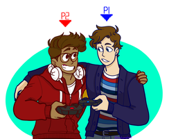 Two-Player Ga(y)me by bloodiedpoptart