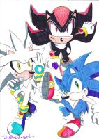 TRIPLE AWESOME HEDGEHOGS by 7marichan7