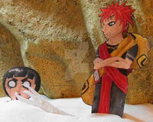 Gaara kills Lee Paperchilds by GingaDensetsuSaphira