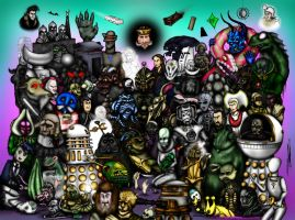 Doctor Who Creatures Part 3: The 1980s by ApocalypseCartoons