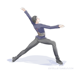 Yuri on Ice: Ina Bauer by Estelly