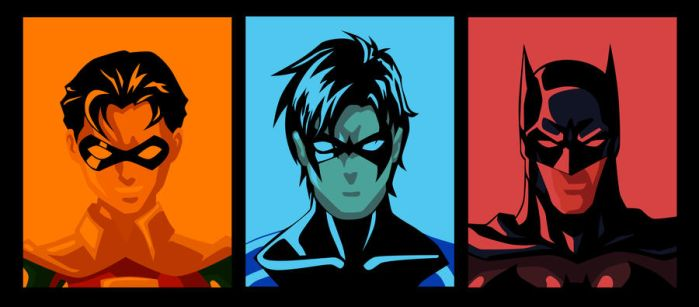 Evolution of Dick Grayson by phil-cho