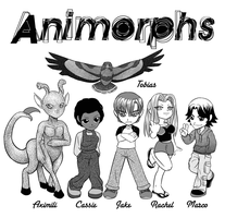 The Animorphs ++ PRINT by alamedyang