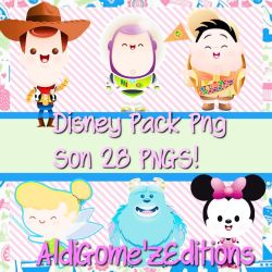 Disney Pack PNG AldiGome'z by LushoRedHot
