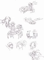 Hobbit MGs: Great Spiders by Cerberus123